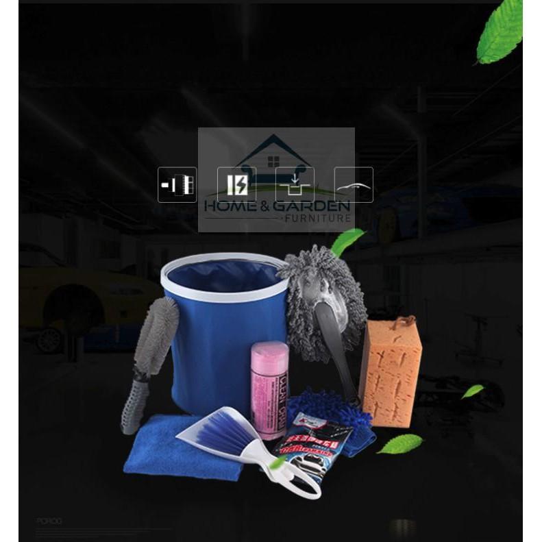 Bộ dụng cụ lau rửa xe ô tô, xe máy 9 món (có kèm xà phòng bọt tuyết) Home & Garden ... Hàng mới
