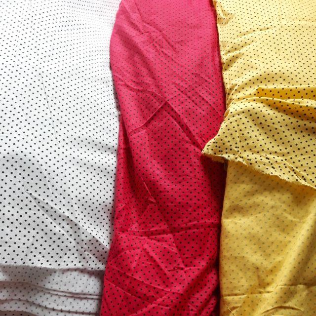 Vải thô boi chấm bi