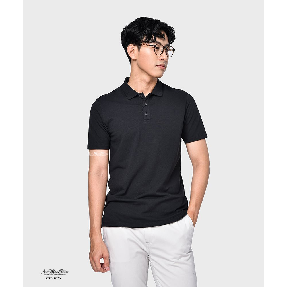 Áo thun nam cổ bẻ chất thun lạnh 100% cotton vải nhập khẩu Hàn Quốc của thời trang nam Routine - Áo ngắn tay có cổ- Áo thun cao cấp Áo ngắn tay có cổ