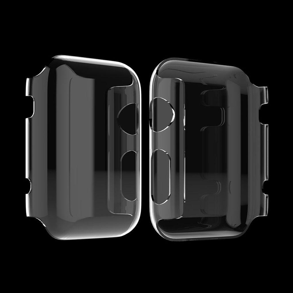 Set 2 Khung Trong Suốt Bảo Vệ Mặt Đồng Hồ Iwatch Series 1 2 3 38 / 42mm