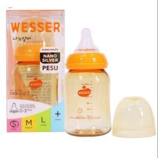[Mã MKBCFS50K hoàn 15K xu đơn 150K] Bình sữa PESU 140ml cổ hẹp Wesser