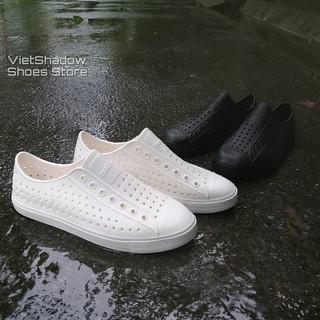 Giày nhựa đi mưa nam nữ WNC Natlve - Chất liệu nhựa xốp siêu nhẹ - Loại một màu trơn (không viền trắng) thumbnail