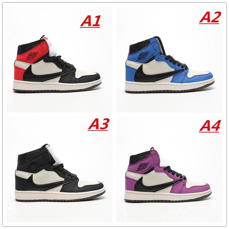 Travis Scott x Air Jordan 1 AJ1 Jordan Barb Prime Giày bóng rổ Châu Á -D1