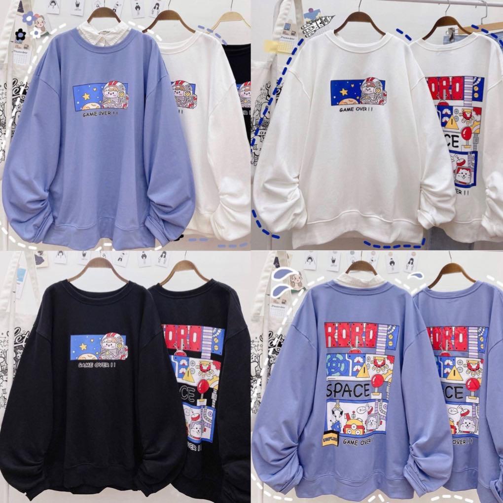 Áo Sweater RORO 3 màu kèm ảnh thật Nam nữ