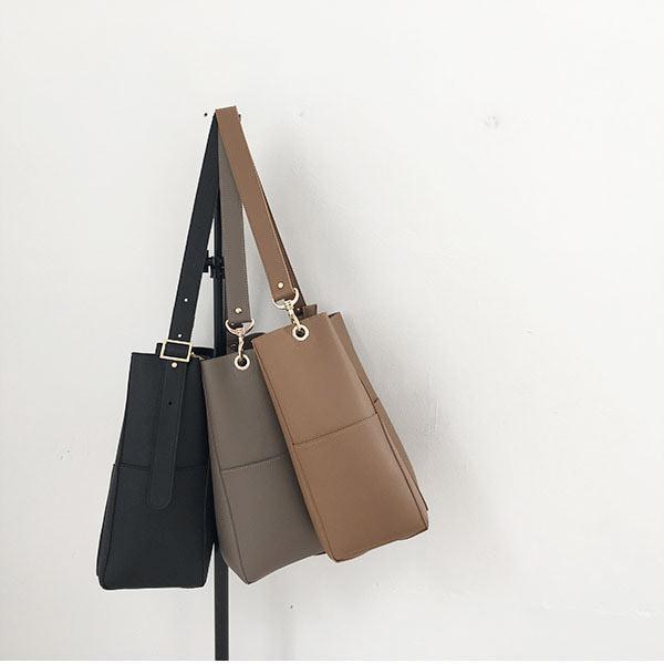 [SẴN ĐEN] Túi tote da đeo vai vừa A4 - M012