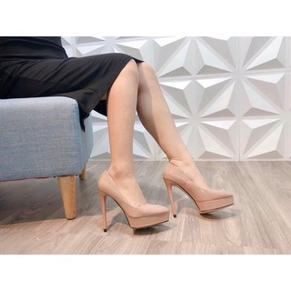Hot trend I Giày cao gót 12p da bóng gót nhọn đúp trước hàng xuất đế đỏ xịn đẹp kèm video