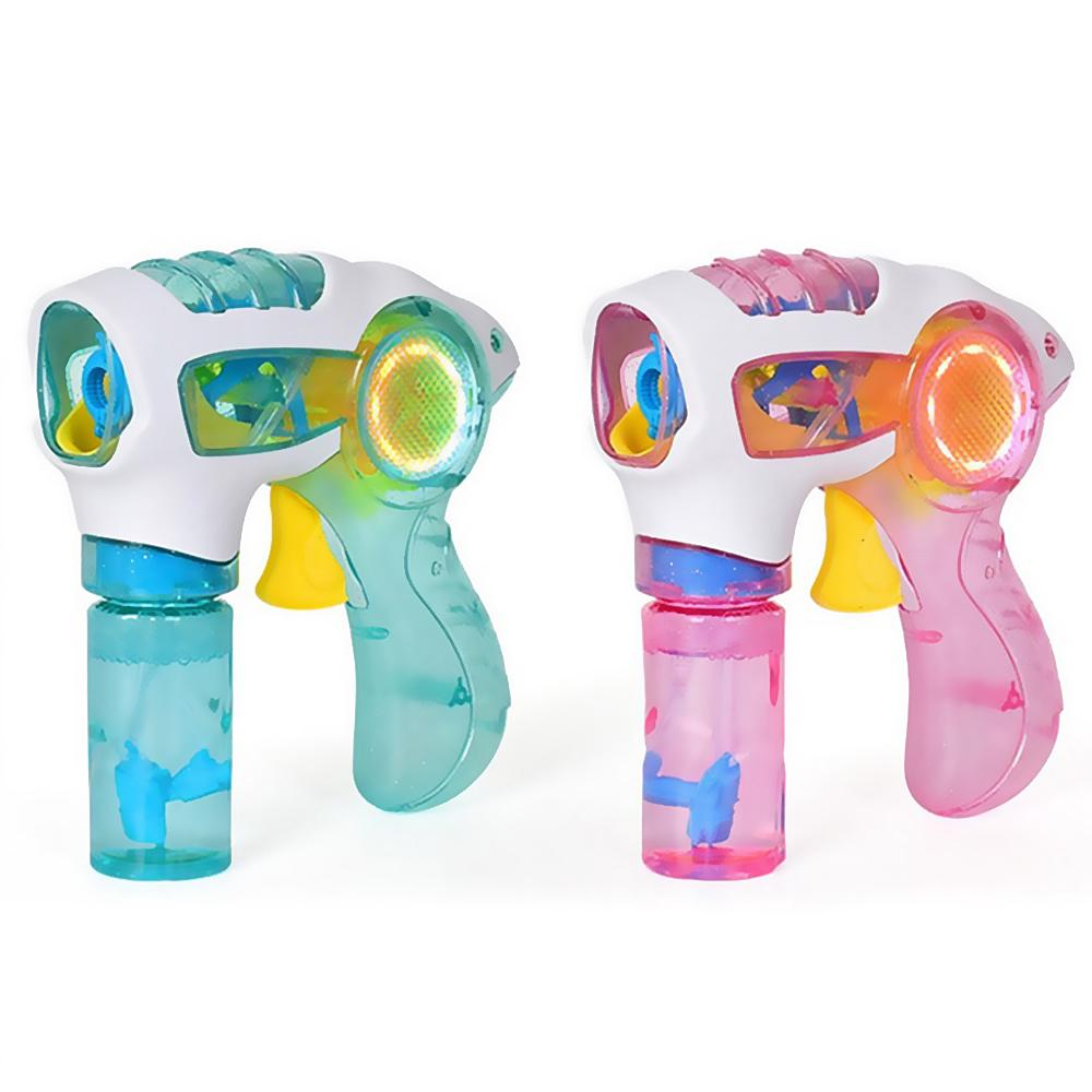 RB-Flashing Light Up Bubble Machine Blowing Bubble Blower Kids Funny Toy