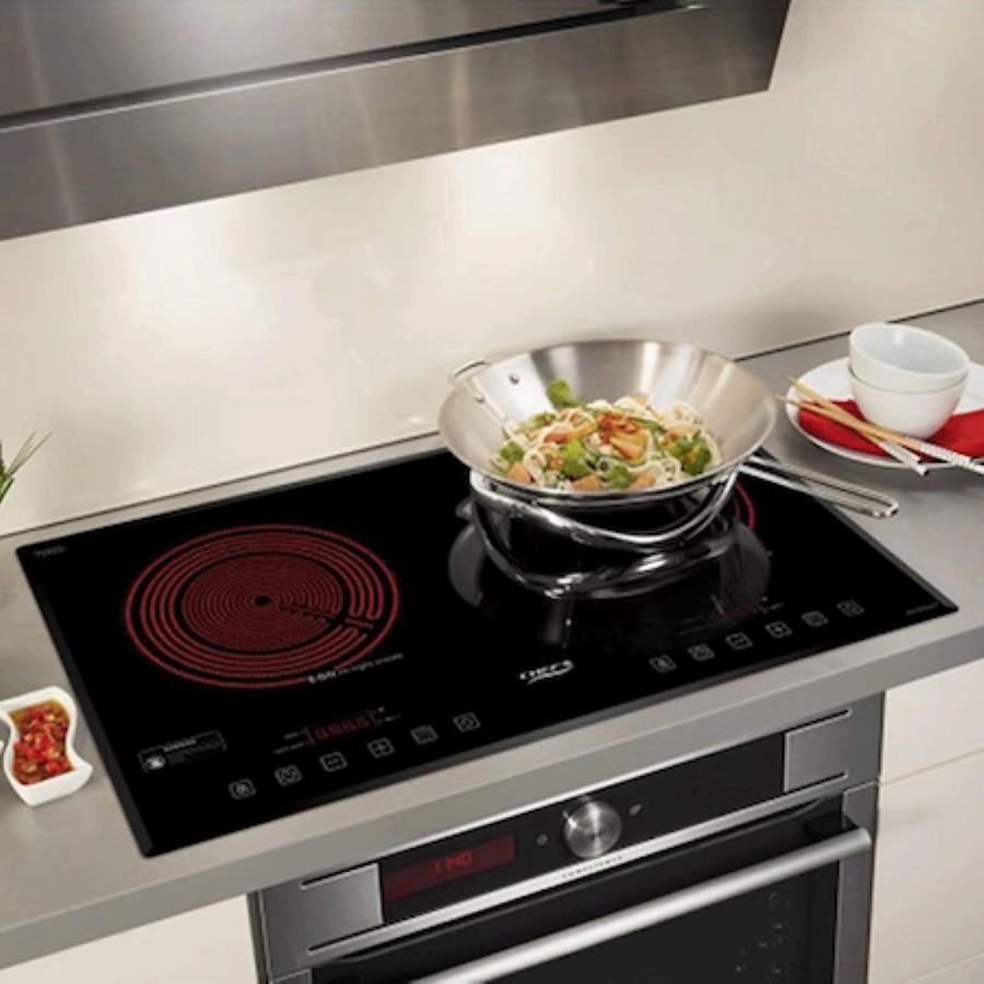 Bếp điện từ 2 lò âm chefs EH-MIX321 Tặng hút mùi nồi từ chefs   Bếp điện từ
