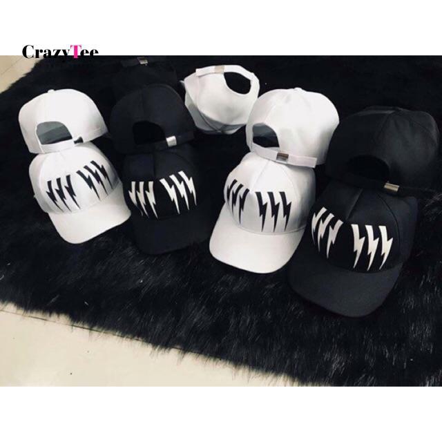Mũ lưỡi trai sọc thời trang