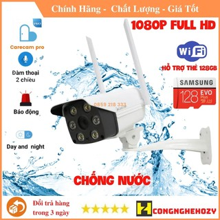Camera WIFI Care cam pro 2.0mpx Full HD, chống nước, báo động về điện thoại thumbnail