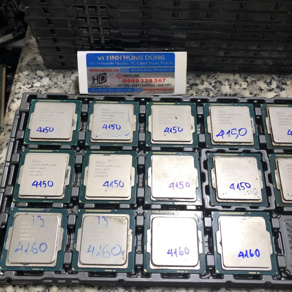 CPU sk 1150, cpu i3 4130, i3 4150, i3 4160, i3 4170, chíp máy tính chạy được trên main h81, b85, h97, z97