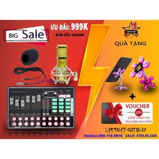 [SALE HOT] Sound Card MKAI H9 + MIC THU ÂM AMI BM900 Hát Live, Thu Âm - CHUẨN PHÒNG THU