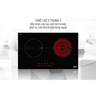 Bếp điện hồng ngoại + từ Ferroli IC4200BN, mặt kính Schott siêu bền, bảo hành 24 Tháng chính hãng