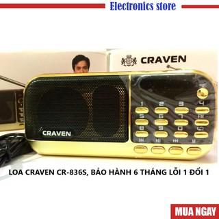 Máy nghe pháp, Loa Craven CR 836/ 836S / 853 có khe cắm thẻ nhớ, USB, ĐÀI FM, kinh phật , học tiếngAnh, BH: 6 tháng