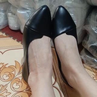Giày bệt cổ tim da mềm