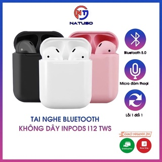 Tai nghe bluetooth không dây Inpods i12 TWS nút cảm ứng âm thanh HIFI có mic đàm thoại