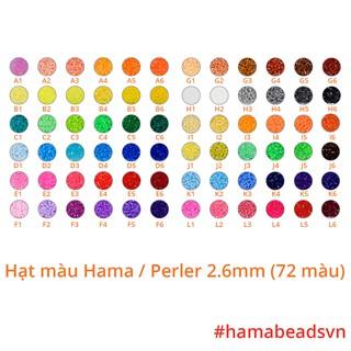 [HÀNG CÓ SẴN] 1000 hạt Perler beads, Hama beads, Hạt màu kì thú (Loại nhỏ 2,6mm) – 72 màu