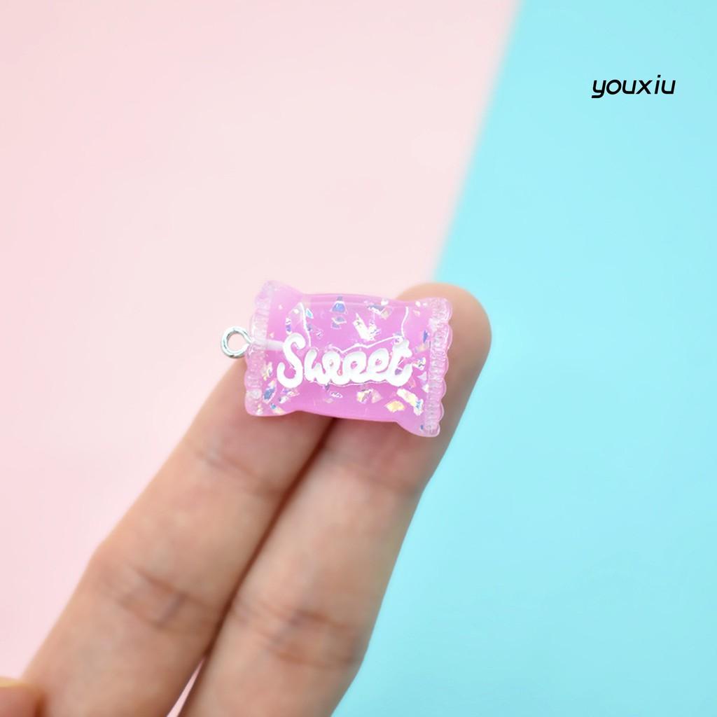YOU-d 5Pcs Simulation Resin Candy Miniature Model DIY Earring Pendant Accessories
