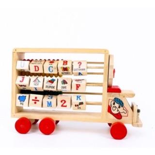 Tàu học tập số chữ kết hợp bảng tính – đồ chơi gỗ