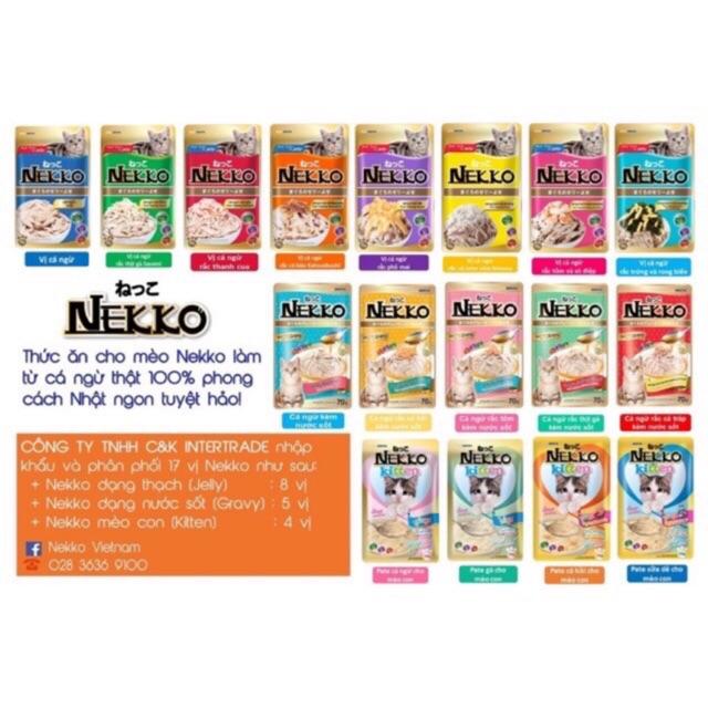 Pate Nekko cho mèo gói 70gr nhập khẩu Thái Lan - Mix c