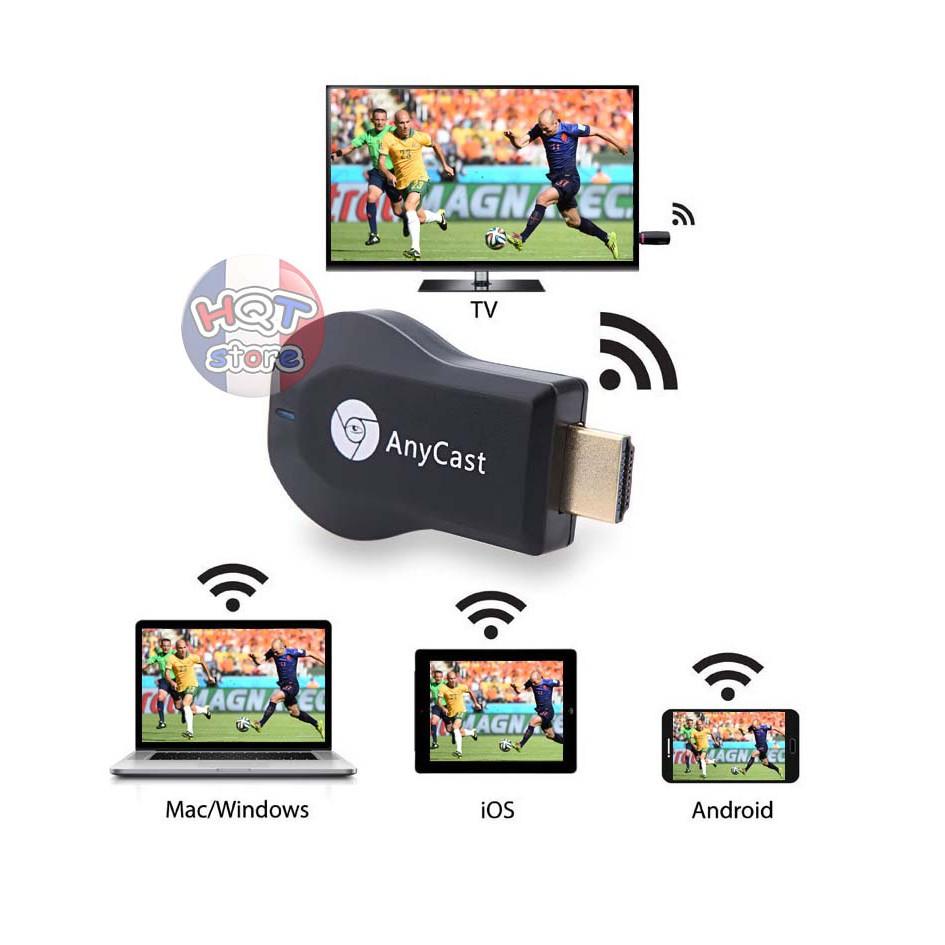 HDMI không dây Anycast M4 Plus giúp chuyển hình ảnh từ điện thoại lên tivi chuẩn Full HD cực nét