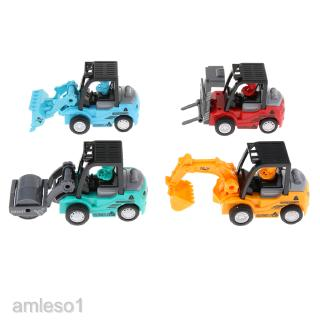 4pcs Inertia Engineering Car Vehicles Playset Children Educational Toy Gift