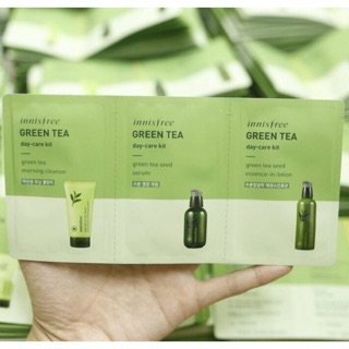Set 3 Sample Làm Sạch Da Innisfree Green Tea Cleansing Kit