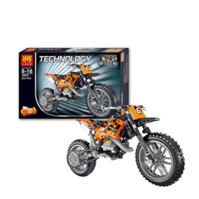 Bộ lego lắp ráp xe máy 253 chi tiết phong cách