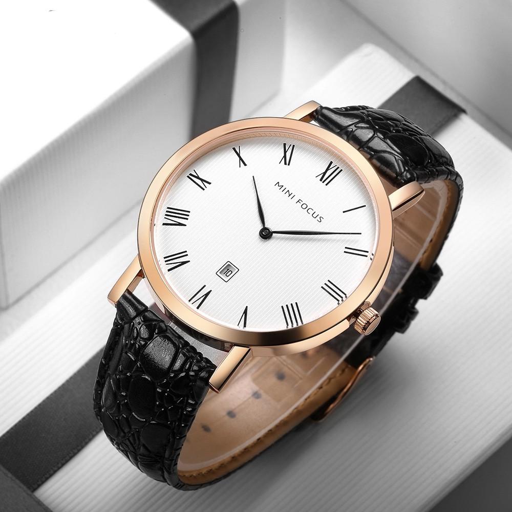 [Tặng vòng tay] Đồng hồ nam Mini Focus chính hãng MF0108G.04C dây da cao cấp