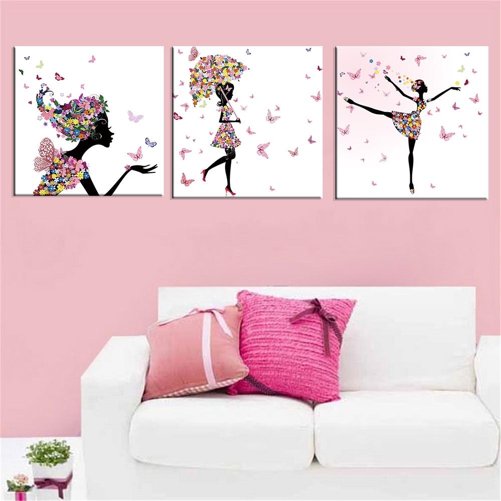 tranh treo tường trang trí hình bướm (không kèm khung)