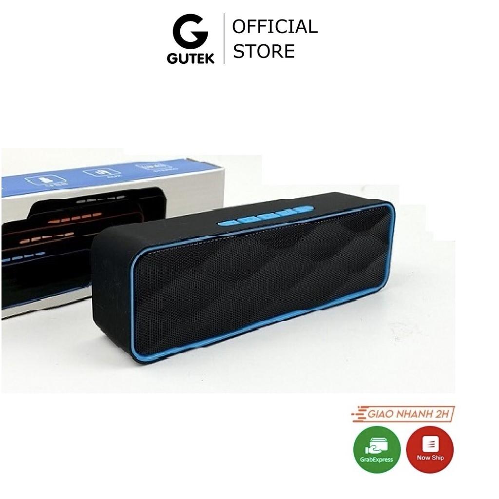 Loa Bluetooth Nghe Nhạc Mini Nhỏ Gọn Kết Nối Không Dây Đa Năng Dùng Được Usb Thẻ Nhớ Gutek SC211