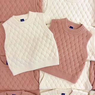 Áo gile len cho bé (trai, gái đều mặc được)