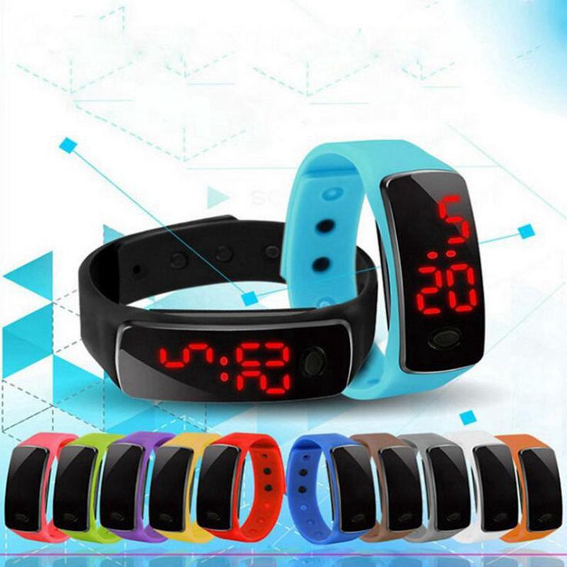 Đồng hồ LED điện tử dây đeo silicon thể thao cho bé