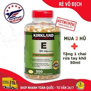 [Date 2024] Vitamin E 400IU Kirkland của Mỹ 500 viên -Hangmy2u