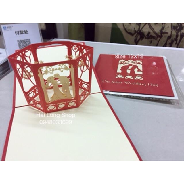 Đám cưới - Wedding - Thiệp 3D (3 mẫu )