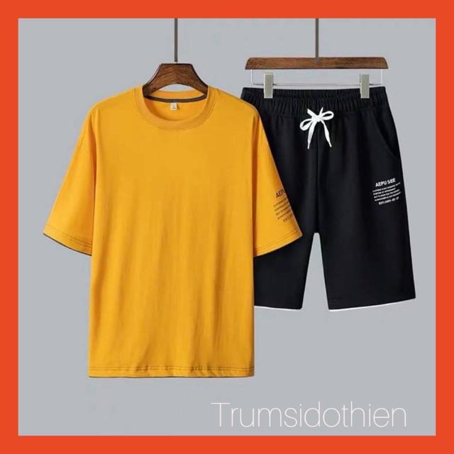 [ Siêu Hot 👉 BÁN GIÁ SỈ ] Quần áo mặc nhà nam sọc viền phòn cách Hàn Quốc, bộ thể thao, bộ hè nam, quần áo tập gym nam