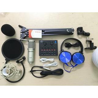 [RẺ VÔ ĐỊCH] Bộ mic thu âm M-900 sound card V8
