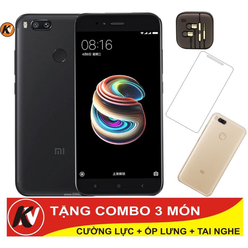 Combo Điện thoại Xiaomi Mi 5X 64GB Ram 4GB - Hàng nhập khẩu + Ốp lưng + Cường lực + Tai nghe