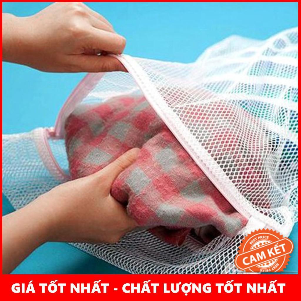 [BÁN LẺ]  Combo 2 Túi Giặt Cỡ Lớn + 2 Túi Giặt Đồ Lót Tròn Giặt Máy Tiện Lợi