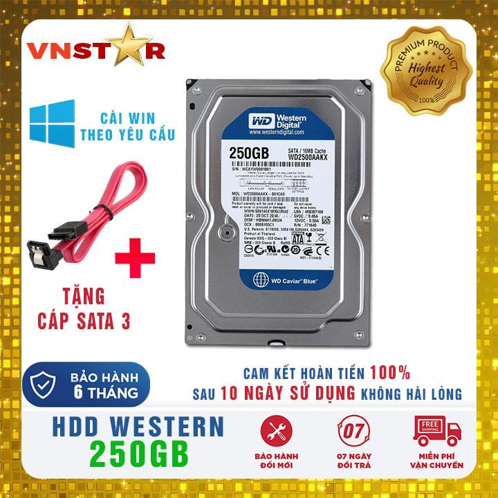 Ổ cứng HDD WD Western Digital 250GB – Bảo Hành 6 Tháng 1 Đổi 1 Giá chỉ 169.000₫