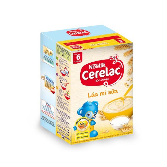 [Tặng kèm chén ăn dặm trị giá 60k] Bột Ăn Dặm Nestlé Cerelac - Lúa Mì Và Sữa (200g)