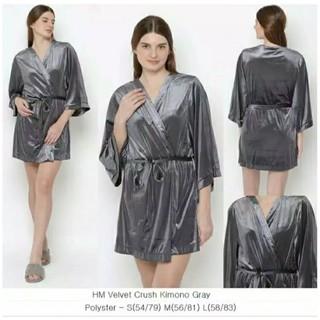 Hm Bộ đồ ngủ Kimono vải satin nguyên bản HM cấp A không phả thumbnail