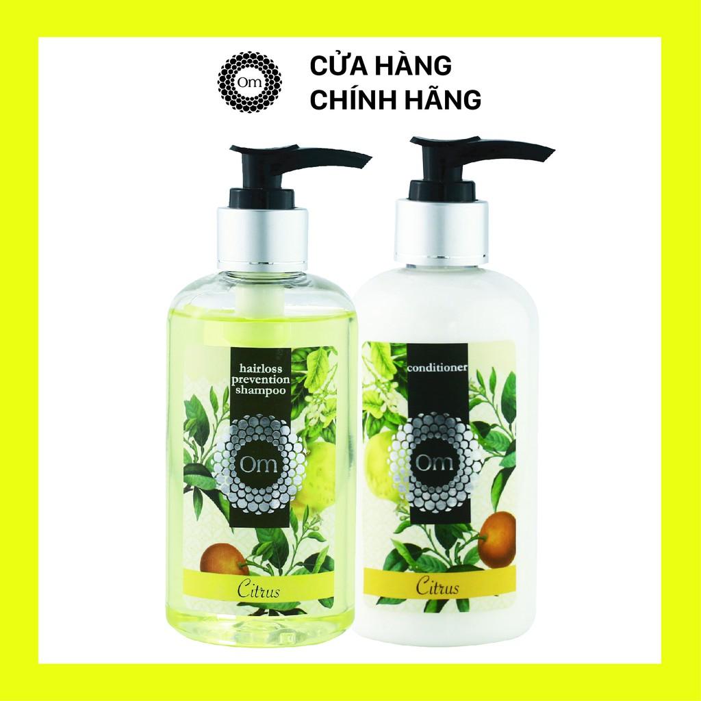 Bộ dầu gội xả trị rụng tóc, bộ dầu gội tinh dầu cam quýt bƀ
