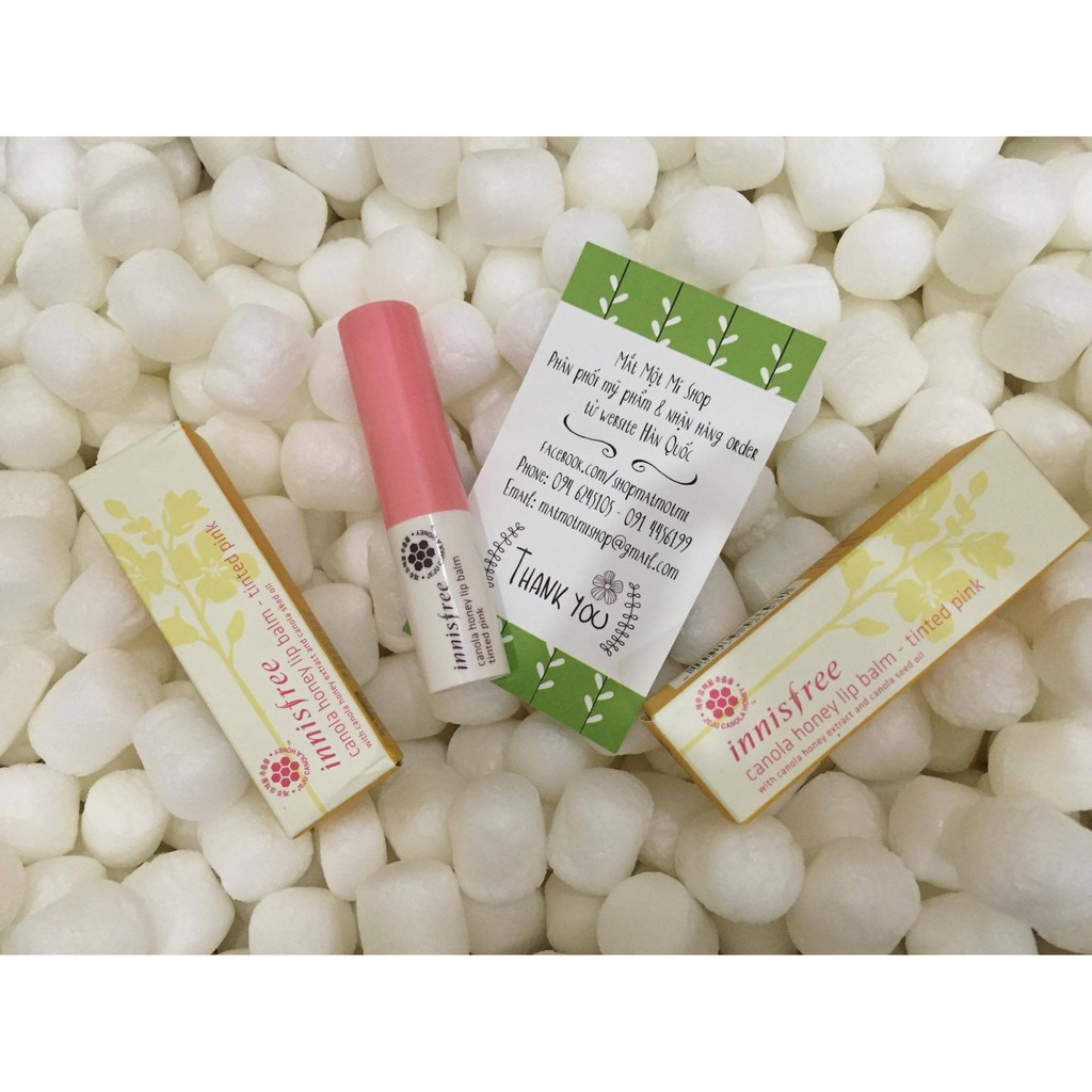 Son Innisfree Canola Honey Lip Balm Tinted Pink – Tink Coral