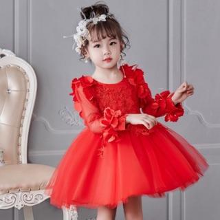 SALE SỐC Váy đầm công chúa dài tay bé gái - Váy đầm bé gái M262 D2