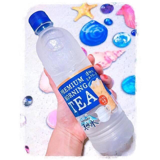 NƯỚC SUỐI VỊ TRÀ SỮA Premium Morning Tea- hàng xách tay Nhật -500ml