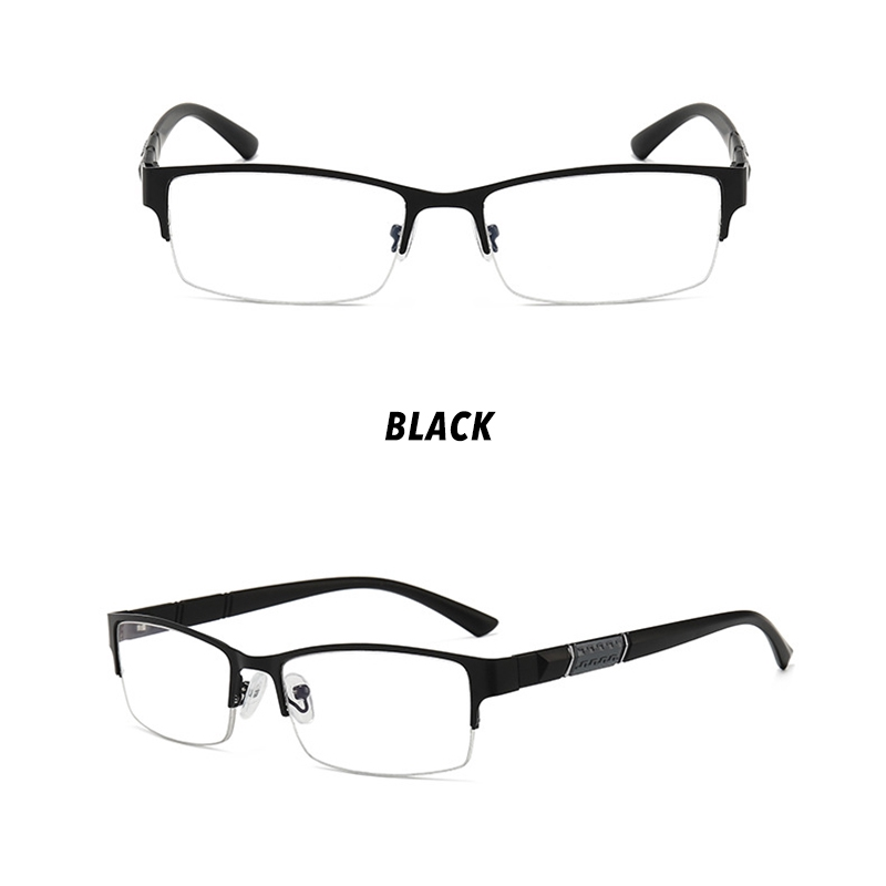 【READY STOCK】COD Classical Men Half Frame Eyeglasses Anti Blue Eyeglasses Women/Men