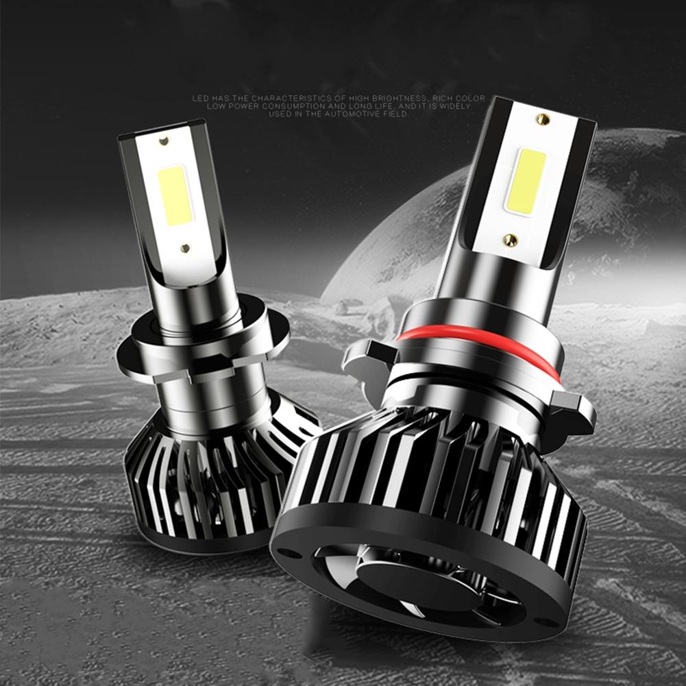1 Pair Easy Install Universal Conversion Mini Black Led Waterproof Aviation Aluminum Car Headlight
