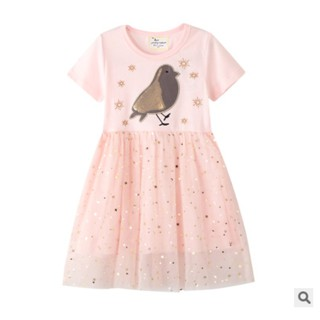 [Mã JUMP1920 giảm 10% đơn bất kỳ] CHÍNH HÃNG_Váy bé gái VH17 pasta bird Jumping meters