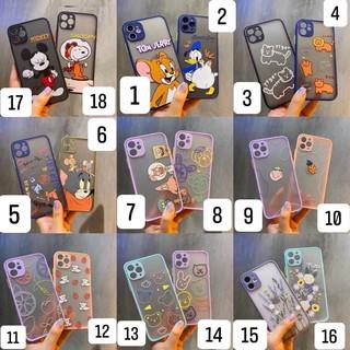 Ốp lưng hoạt hình cute màu Pastel bảo vệ cam Iphone 12 / 12 mini / 12 pro / 12 pro max